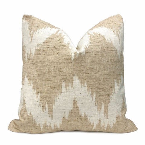 Olmsted Beige Cream Abstract Pillow Cover - Aloriam