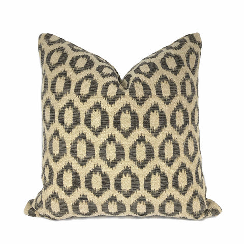 "Razul Dark Brown & Tan ""O"" Dots Pillow Cover"