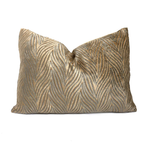 Robert Allen Abstract Waves Soft Gold Sage Green Contoured Velvet Texture Pillow Cover Cushion Pillow Case Euro Sham 16x16 18x18 20x20 22x22 24x24 26x26 28x28 Lumbar Pillow 12x18 12x20 12x24 14x20 16x26 by Aloriam