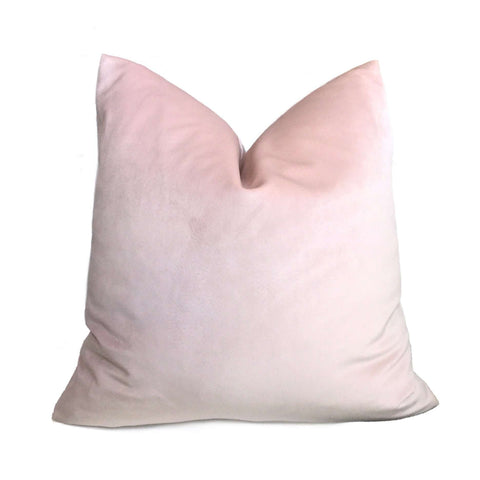 Robert Allen Blush Pink Touche Velvet Pillow Cover