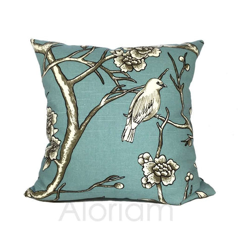 Robert Allen Dwell Studio Vintage Blossom in Jade Teal Green by Aloriam