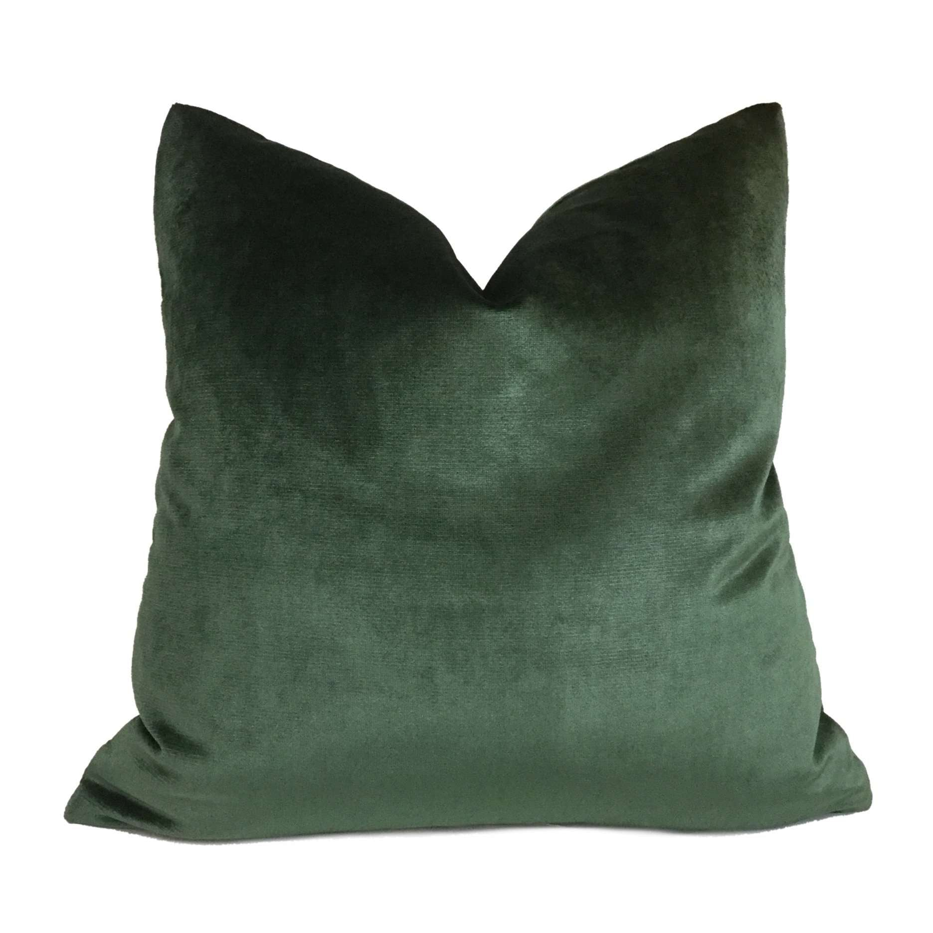 Robert Allen Forest Green Radiant Italian Rayon Velvet Pillow Cover Cushion Pillow Case Euro Sham 16x16 18x18 20x20 22x22 24x24 26x26 28x28 Lumbar Pillow 12x18 12x20 12x24 14x20 16x26 by Aloriam