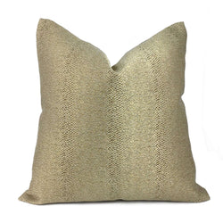 Robert Allen Glossy Slither Gold Faux Snakeskin Pillow Cover