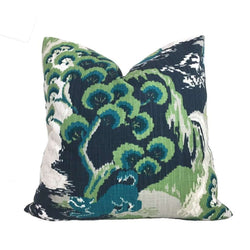 Robert Allen Madcap Cottage Road to Canton Marrakech Green Chinoiserie Asian Pillow Cover Cushion Pillow Case Euro Sham 16x16 18x18 20x20 22x22 24x24 26x26 28x28 Lumbar Pillow 12x18 12x20 12x24 14x20 16x26 by Aloriam