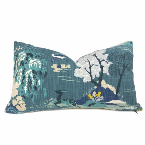 Robert Allen Modern Toile Peacock Teal Pillow Cover - Aloriam