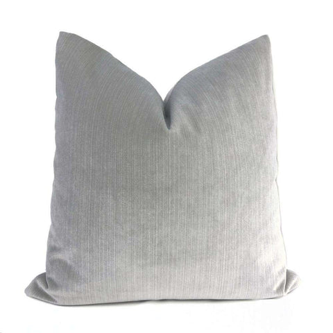 Robert Allen Platinum Gray Plush Strie Stripe Velvet Pillow Cover Sham 16x16 18x18 20x20 22x22 24x24 26x26 28x28