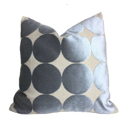 Robert Allen Plush Dotscape Velvet Dots Circles Dove Gray Pillow Cover Cushion Pillow Case Euro Sham 16x16 18x18 20x20 22x22 24x24 26x26 28x28 Lumbar Pillow 12x18 12x20 12x24 14x20 16x26 by Aloriam