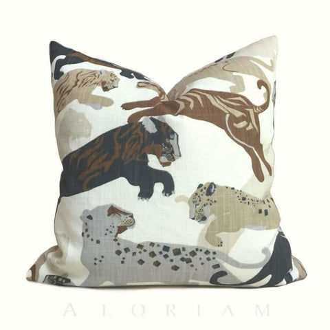 Robert Allen Rajita Pouncing Tiger Print Pillow Cover - Aloriam