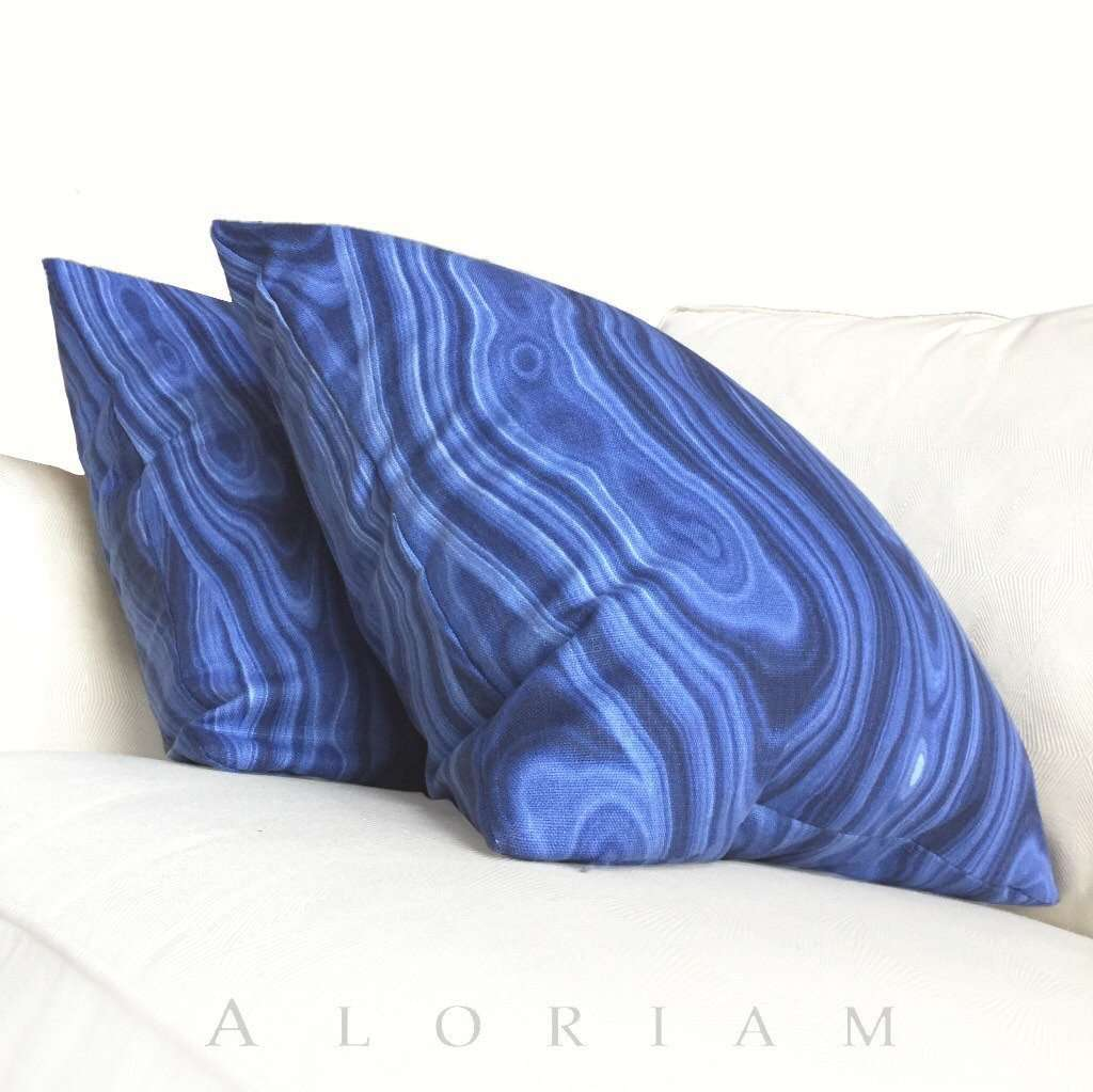 Robert Allen Ultramarine Blue Abstract Geology Pattern Decorative Throw Pillow Cover Cushion Pillow Case Euro Sham 16x16 18x18 20x20 22x22 24x24 26x26 28x28 Lumbar Pillow 12x18 12x20 12x24 14x20 16x26 by Aloriam