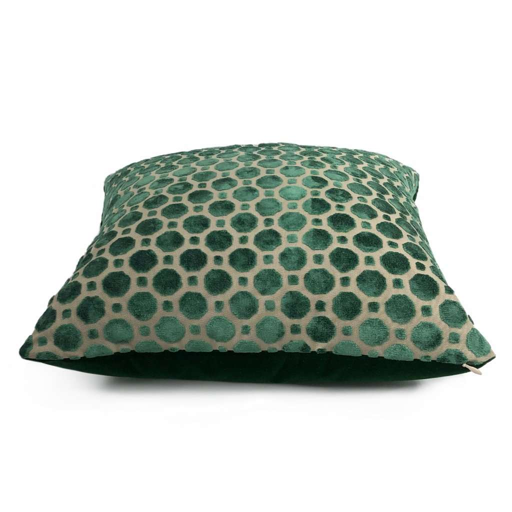 Robert Allen Velvet Geo Emerald Green Pillow Cover Aloriam