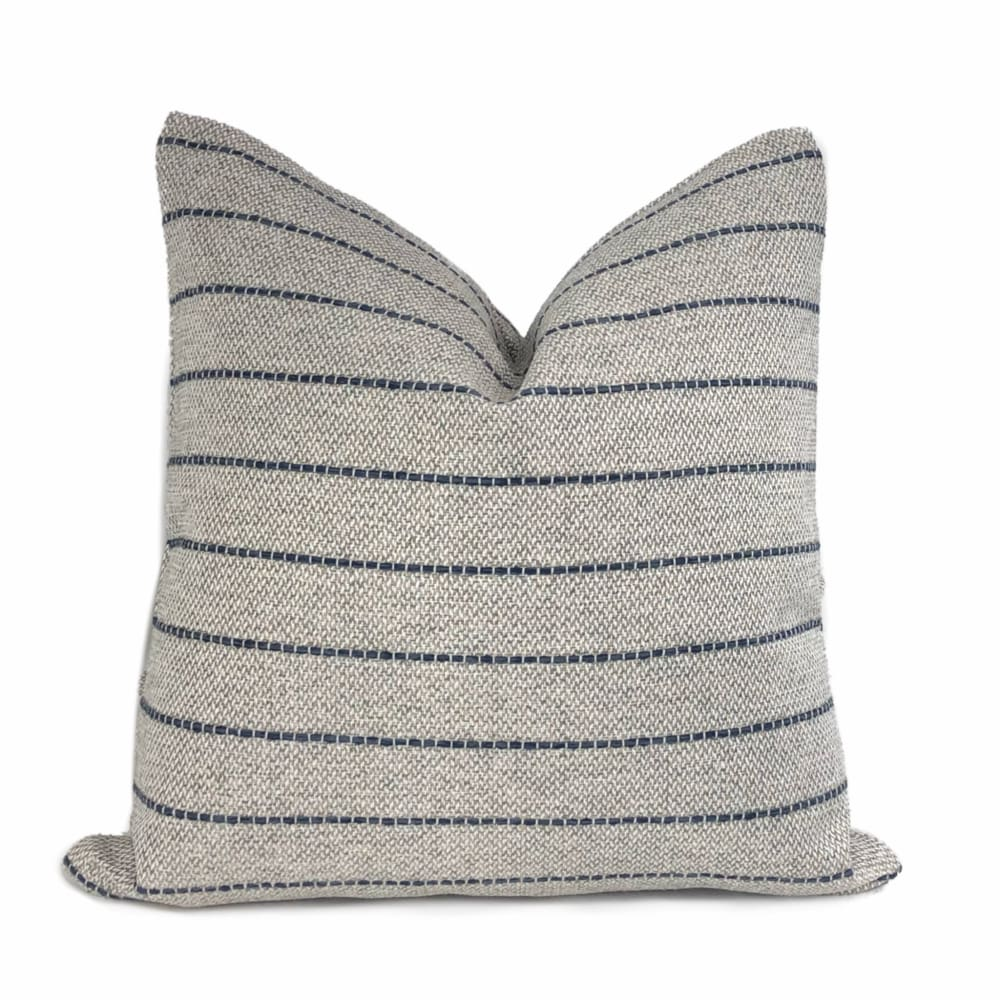 Rockwell Gray Blue Stripe Pillow Cover - Aloriam