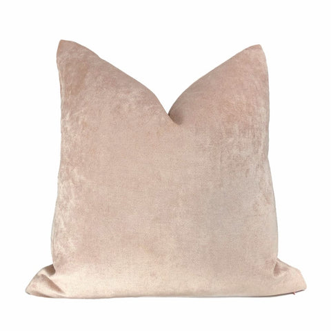 Rose Blush Pink Chenille Pillow Cover - Aloriam