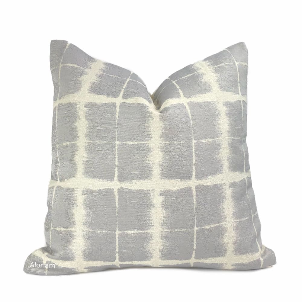 Rutherford Gray & Cream Plaid Checks Pillow Cover - Aloriam