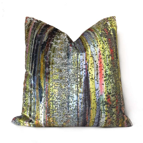 S Harris Brushstroke Velvet Coralstone Modern Abstract Art Pillow Cover Cushion Pillow Case Euro Sham 16x16 18x18 20x20 22x22 24x24 26x26 28x28 Lumbar Pillow 12x18 12x20 12x24 14x20 16x26 by Aloriam