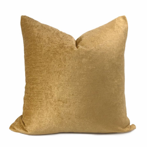 San Marco Amber Gold Chenille Pillow Cover - Aloriam