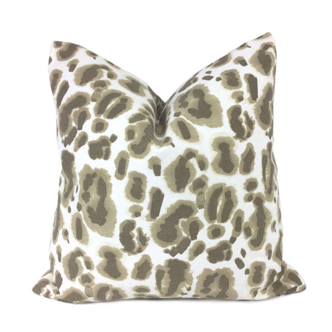 Lacefield Designs Brown White Leopard Print Pillow Cover