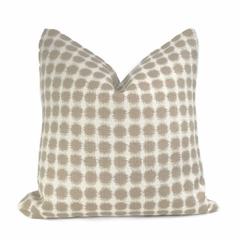 Setro Taupe Beige Dots on Cream Pillow Cover - Aloriam