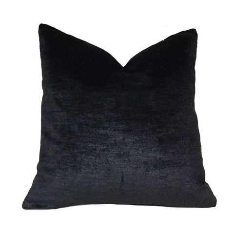 "Black Velvet Pillow Cushion Cover, Fits 12x18 12x24 14x20 16x26 16"" 18"" 20"" 22"" 24"" Inserts"