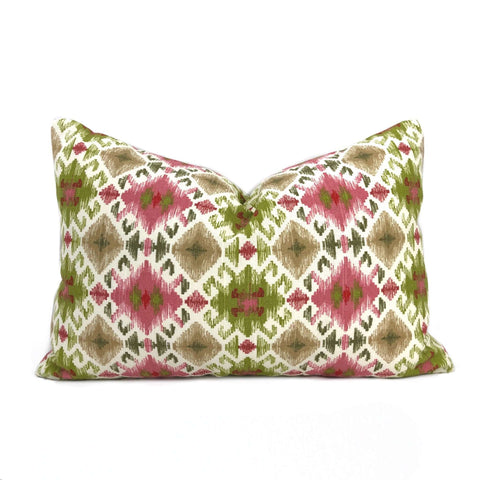 Sonora Pink Green Cream Southwest Print Pillow Cover