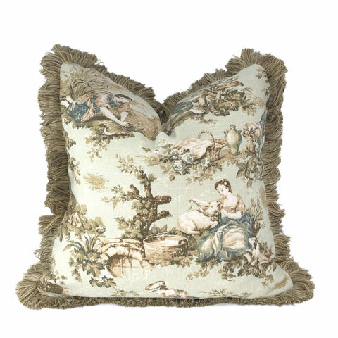 St Germain French Country Toile Pillow Cover - Aloriam