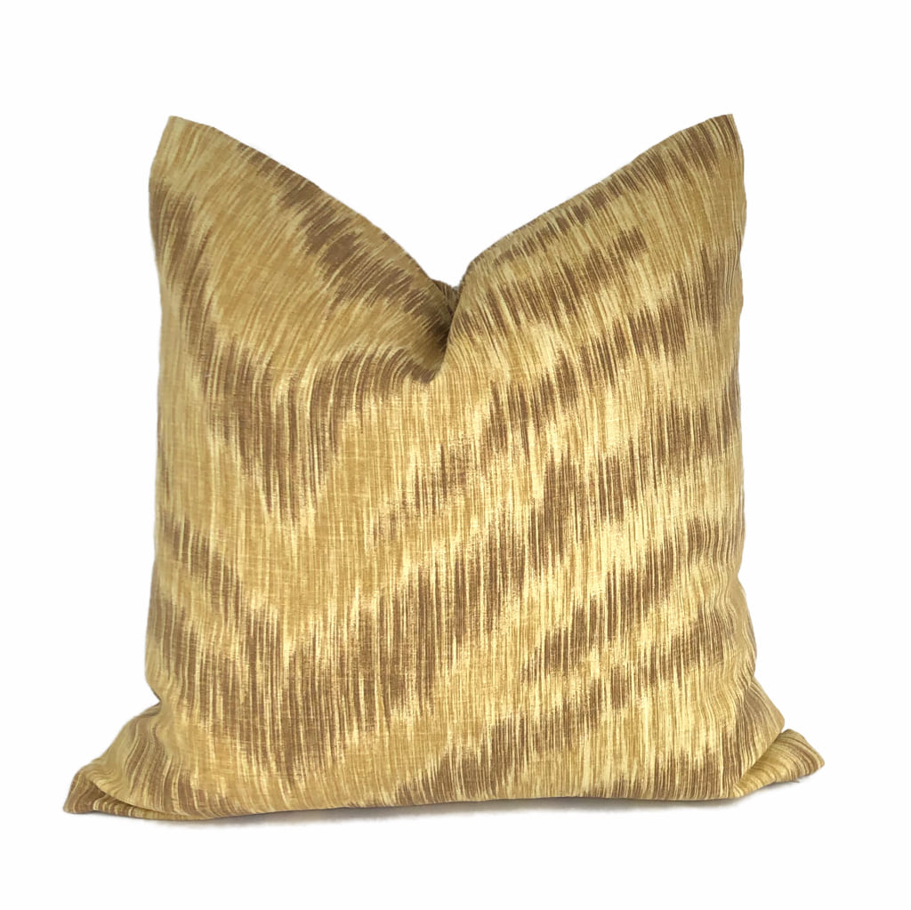 Surit Sahara Tan Brown Animal Stripe Linen Pillow Cover