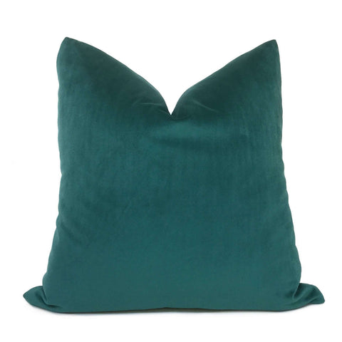 Teal Green Libretto Velvet Pillow Cover