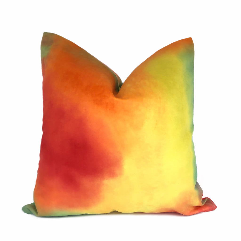 Tropicana Color Splash Velvet Multicolor Pillow Cover