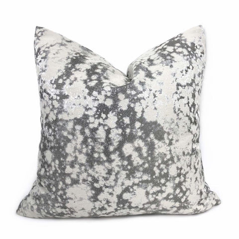 Vilero Shimmer Gray Abstract Pillow Cover Cushion Pillow Case Euro Sham 16x16 18x18 20x20 22x22 24x24 26x26 28x28 Lumbar Pillow 12x18 12x20 12x24 14x20 16x26 by Aloriam