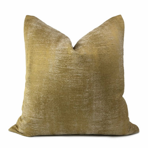 Ysidro Dark Gold Semi Solid Texture Pillow Cover - Aloriam