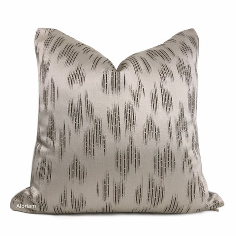 Zander Beige Brown Abstract Pillow Cover - Aloriam