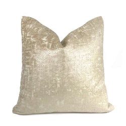 Zazie Luxe Light Champagne Gold Velvet Pillow Cover Cushion Pillow Case Euro Sham 16x16 18x18 20x20 22x22 24x24 26x26 28x28 Lumbar Pillow 12x18 12x20 12x24 14x20 16x26 by Aloriam
