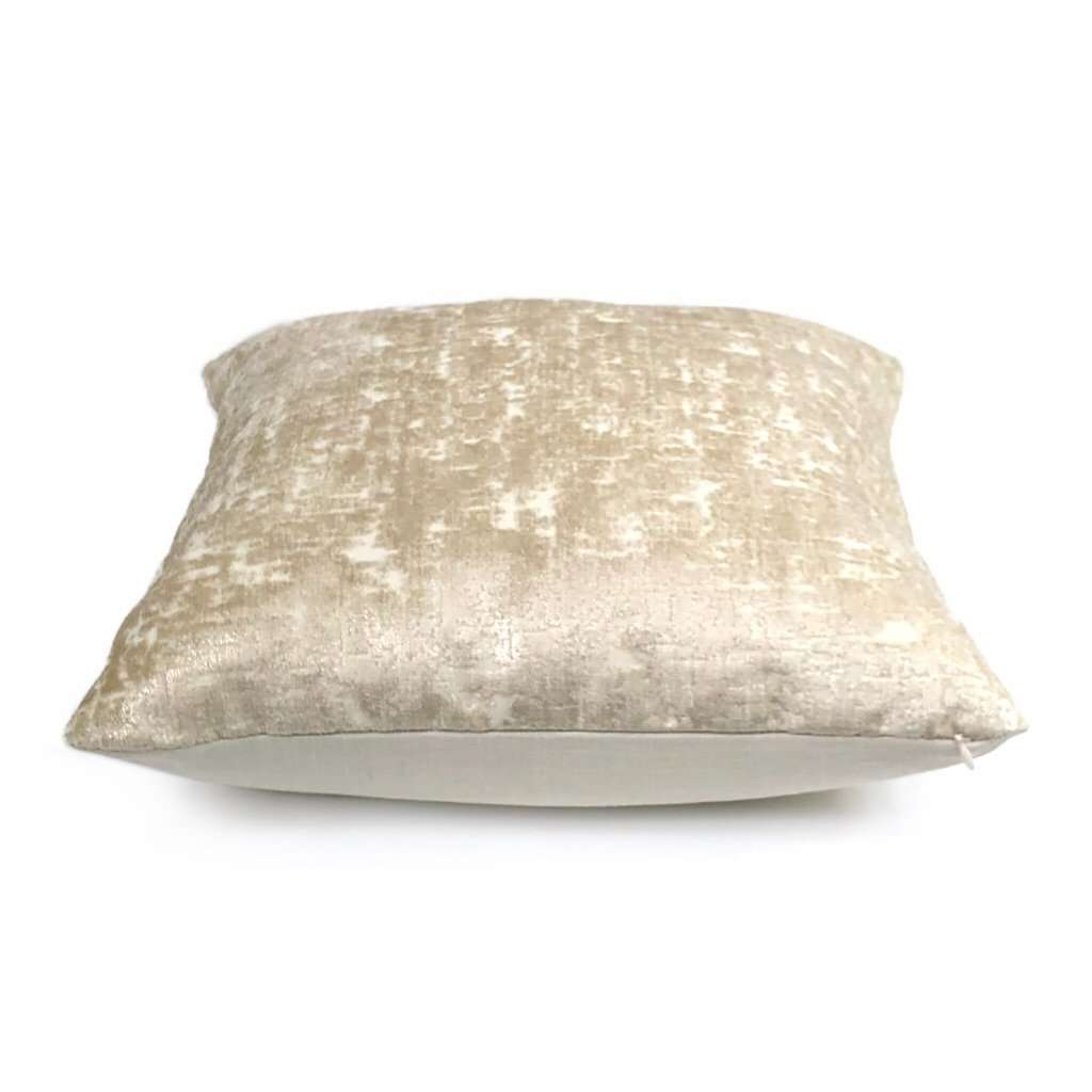 Zazie Luxe Light Champagne Gold Velvet Pillow Cover Aloriam