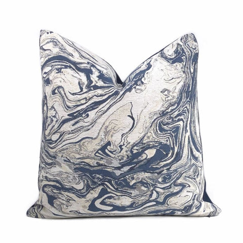 Zephyr Blue Atmospheric Swirls Pillow Cover - Aloriam