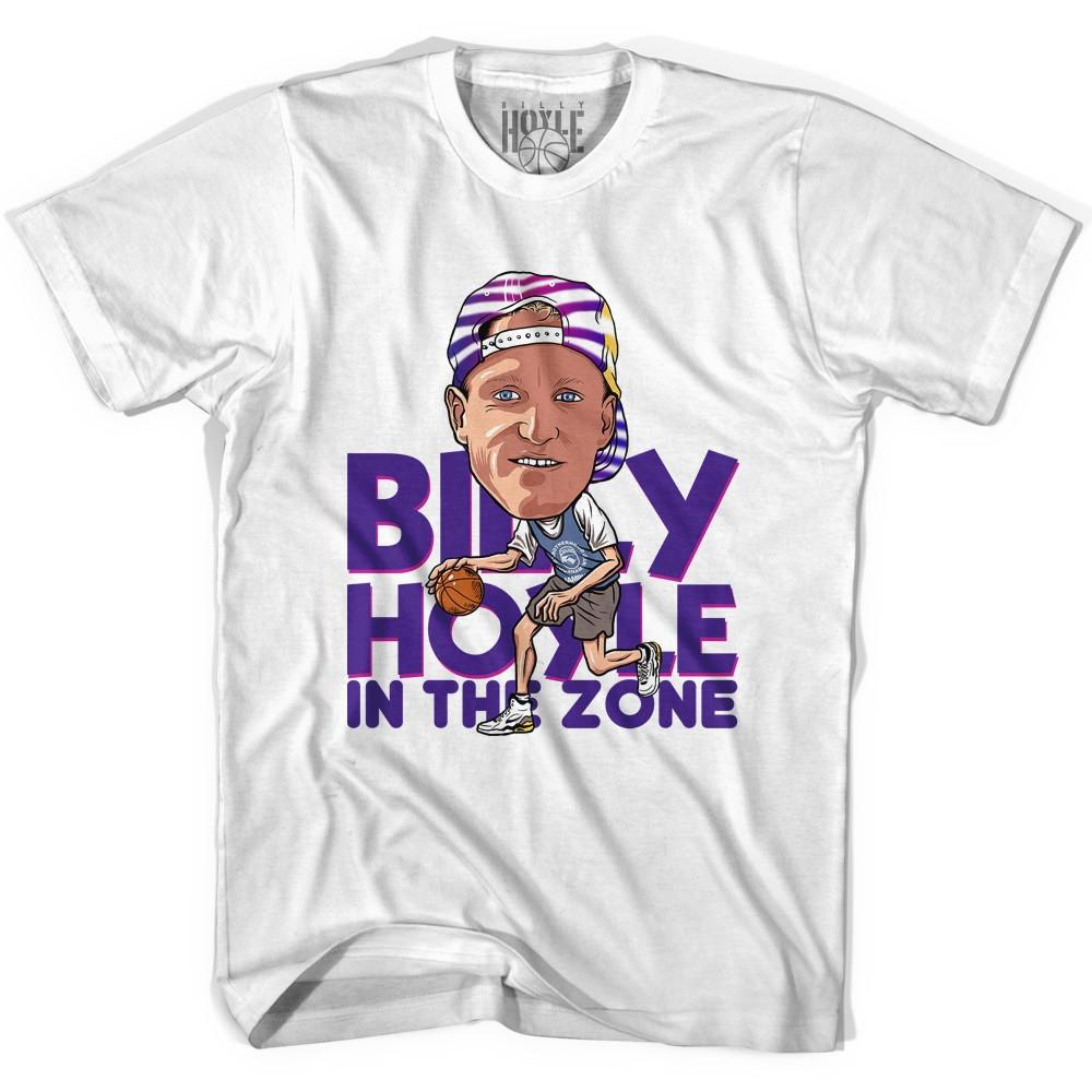 Billy Hoyle Caricature Basketball T-shirt in White by Billy Hoyle