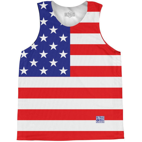 American Flag Basketball Practice Singlet Jersey