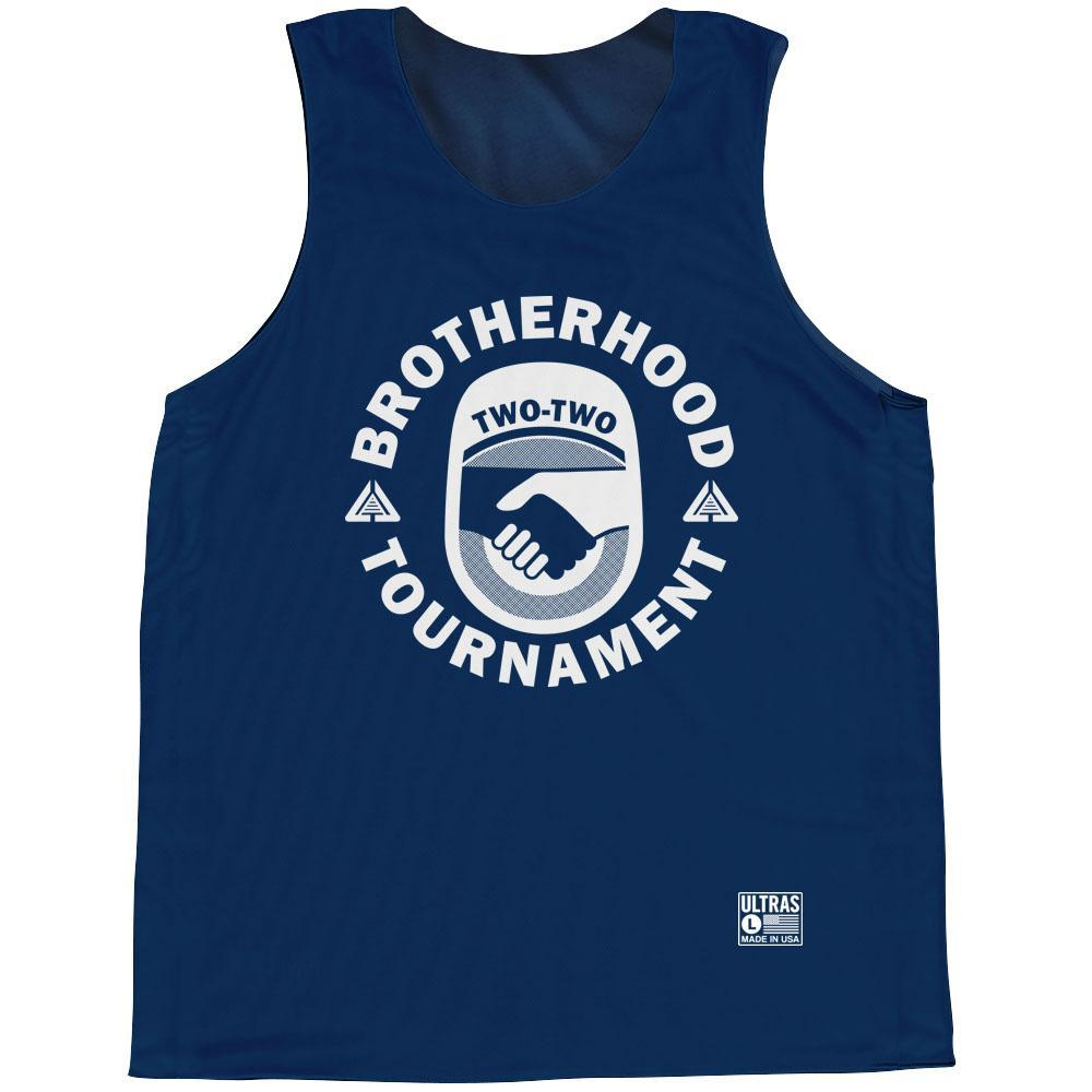 Brotherhood Billy Hoyle #33 Basketball Pinnie in Blue by Billy Hoyle - Front