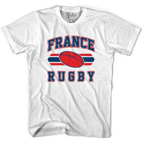 France 90's Rugby Ball T-shirt-Adult