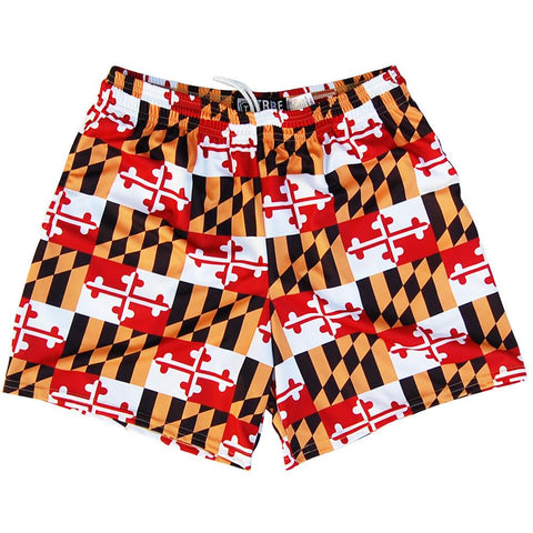Womens Maryland Flag All-Over Game Shorts