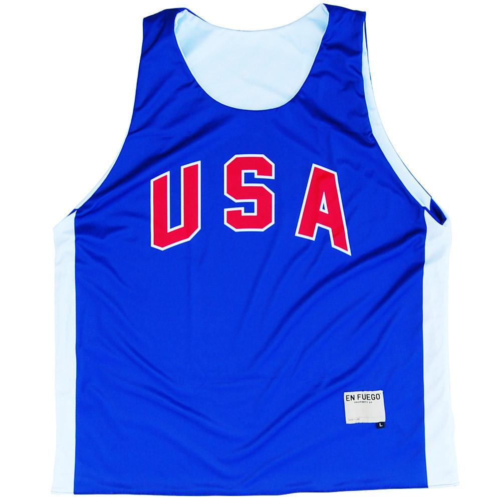 USA Royal and White Basketball Reversible in Royal by Billy Hoyle