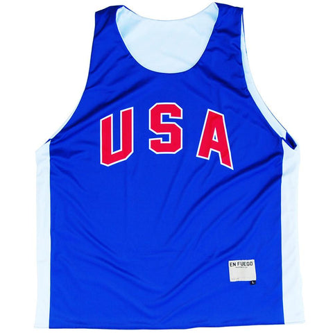 USA Royal and White Basketball Reversible