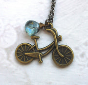Bike Rider Necklace - GEN515 - Harlow Jewelry - 2