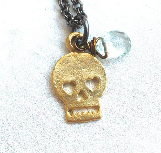 Sugar Skull Necklace - GEN513 - Harlow Jewelry - 2