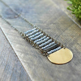 Blue Sage Long Stack Necklace -handmade jewelry - Harlow Jewelry - 1