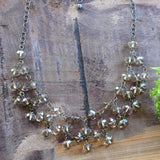 Champagne Crystal Statement Necklace - handmade jewerly - Harlow Jewelry
