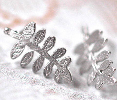 Silver Fern Earrings - GEE512