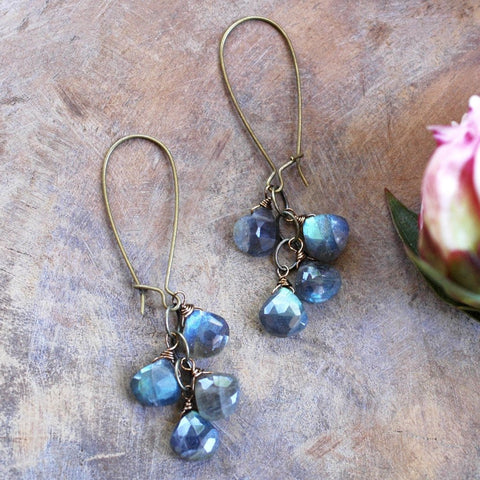 Labradorite Cascade Earrings - HXE10