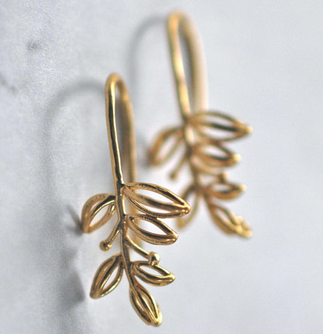 Gold branch Earrings - GEE115