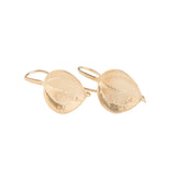 Gold Leaf Hook Earrings - GEE505 - Harlow Jewelry - 1