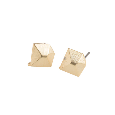 Gold Diamond Earrings - GEE509