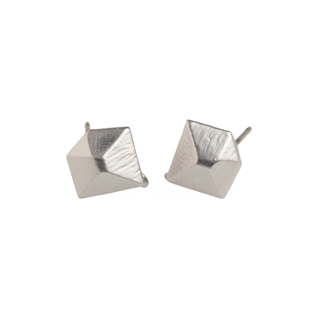 Silver Diamond Earrings - GEE510 - Harlow Jewelry